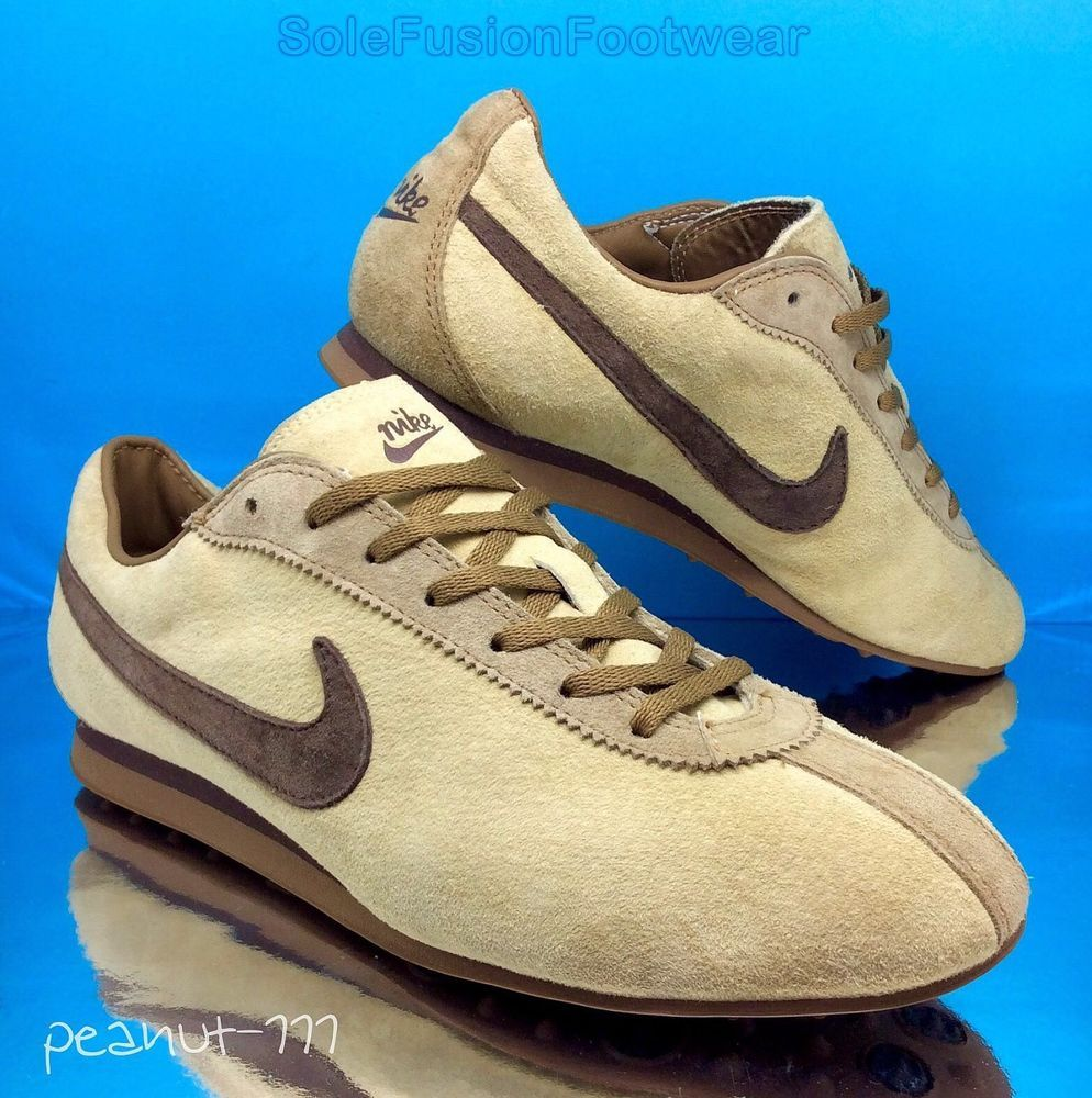 Nike Womens Cortez Retro Trainers Beige Size 8 Nike Rare Trainers