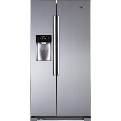 Haier Hrf 628if6 2 Door A Side By Side American Fridge Freezer With Ice And Water Dispenser Stainless Steel Look Wohnen
