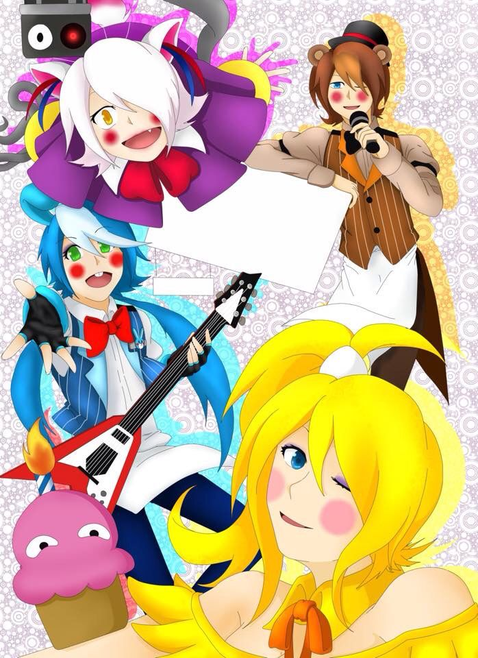 Human Toy Bonnie Toy Chica Mangle And Toy Freddy.