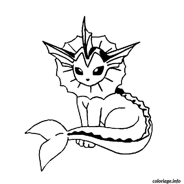 Coloriage Pokemon Aquali Dessin à Imprimer Coloriage
