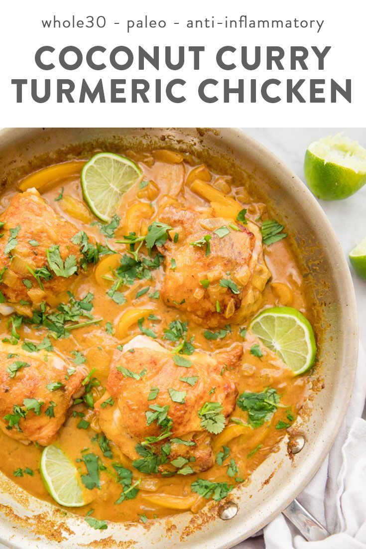 Coconut Curry Turmeric Chicken (Whole30, Anti-Inflammatory) images