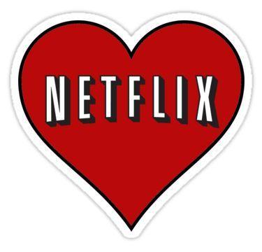 Netflix heart Sticker