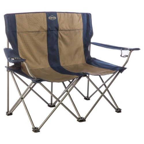 Awesome Kamp Rite Double Folding Chair With Arm Rests Cc352 Tan Dailytribune Chair Design For Home Dailytribuneorg