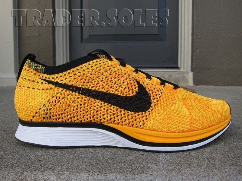 timeless design 2a732 e6bc5 DS Nike Zoom Air Flyknit Racer Orange Yellow Sz 11 Multi Roshe 1 360 95    eBay