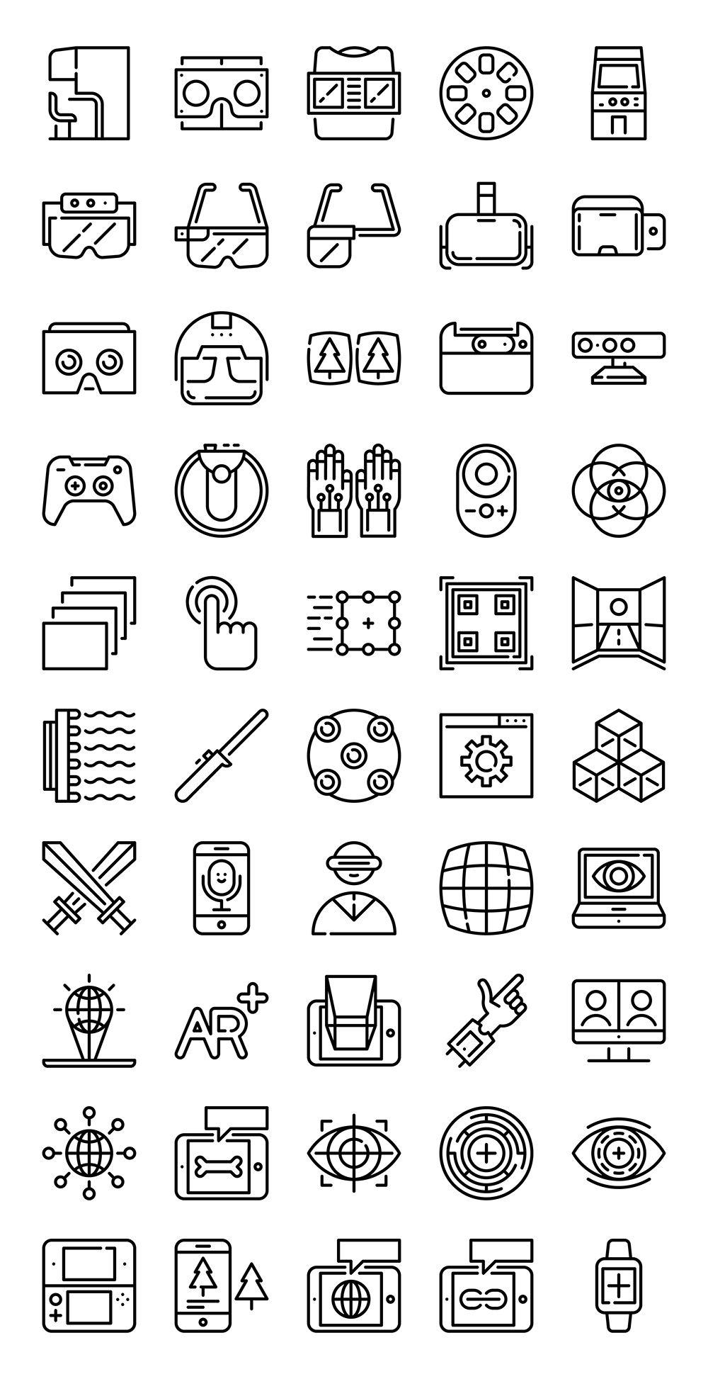 Wireless icon line iconset iconsmind - 50 Free Virtual Augmented Reality Icons Flaticon
