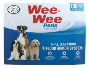 Four Paws Wee-Wee Dog House Breaking Pads