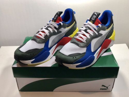 0b3827ad56fb Puma RS-X Toys Running System White Black Blue Red Yellow Men Shoes  369449-02