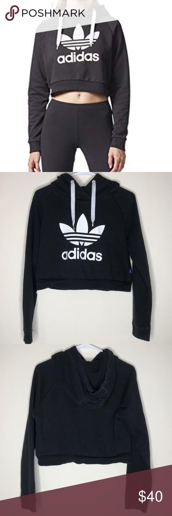 Predownload: Adidas Cropped Hoodie Sweatshirt Crop Sweatshirt Hoodie Adidas Crop Adidas Cropped Hoodie [ 1740 x 580 Pixel ]