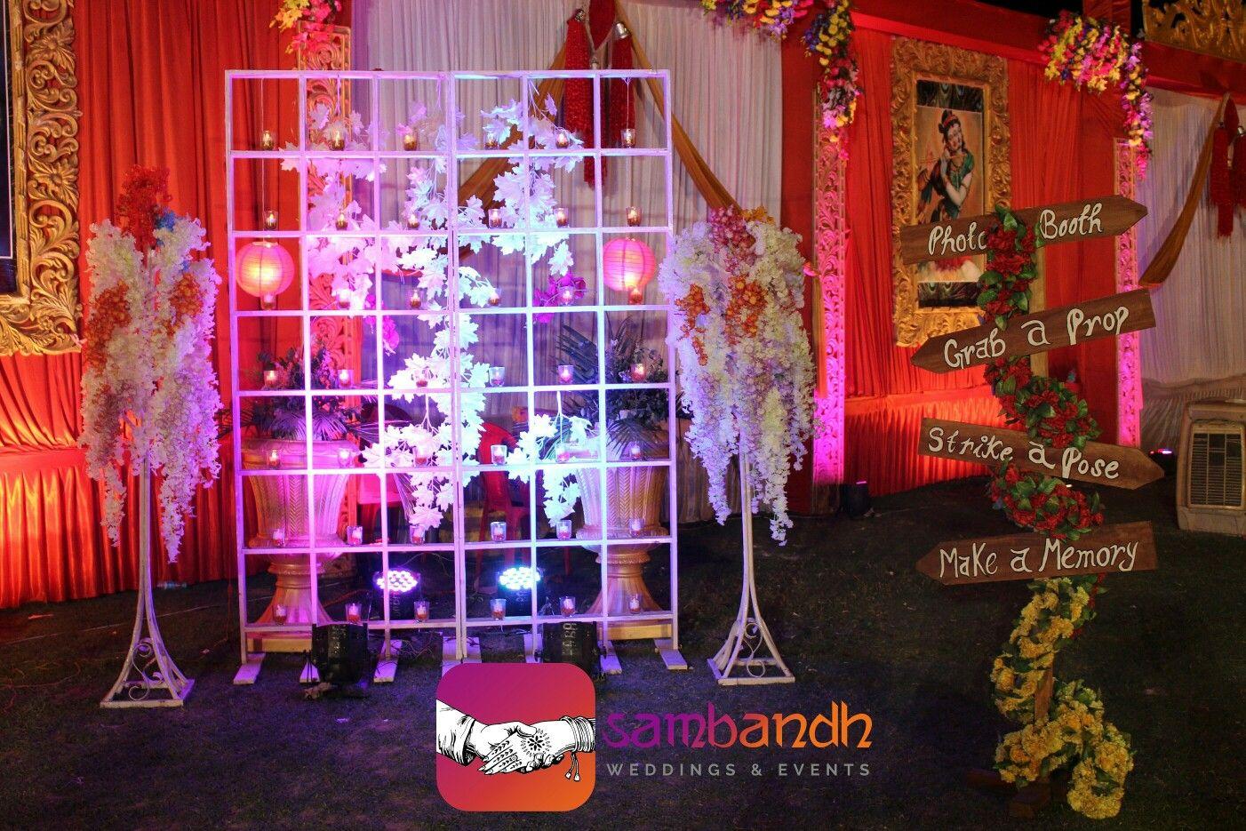 3707517c1a623 Selfie station , photo booth with props led par flowers | selfie ...