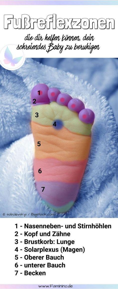 Diese 7 Fußreflexzonen können dir helfen, dein schreiendes Baby zu beruhigen