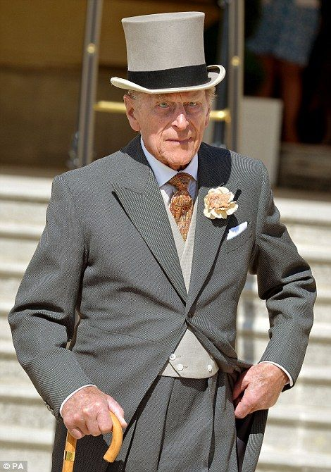 Dapper: The Duke of Edinburgh looked dapper on his birthday in a neat top hat and tails...