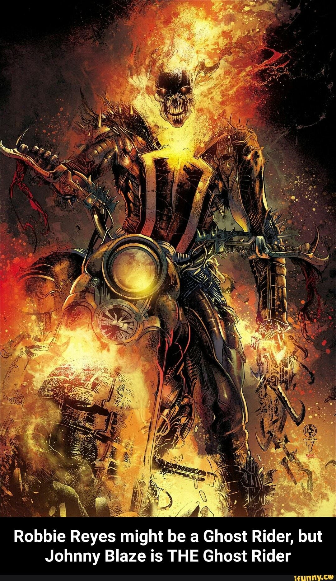 Robbie Reyes Might Be A Ghost Rider But Johnny Blaze Is The Ghost Rider Ghost Rider Marvel Ghost Rider Wallpaper Ghost Rider Johnny Blaze