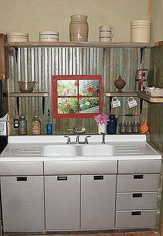 Small Rustic Kitchen Makeover Diy Home Decor How To Backsplash Design Painted Furniture Repurposing Upcycling