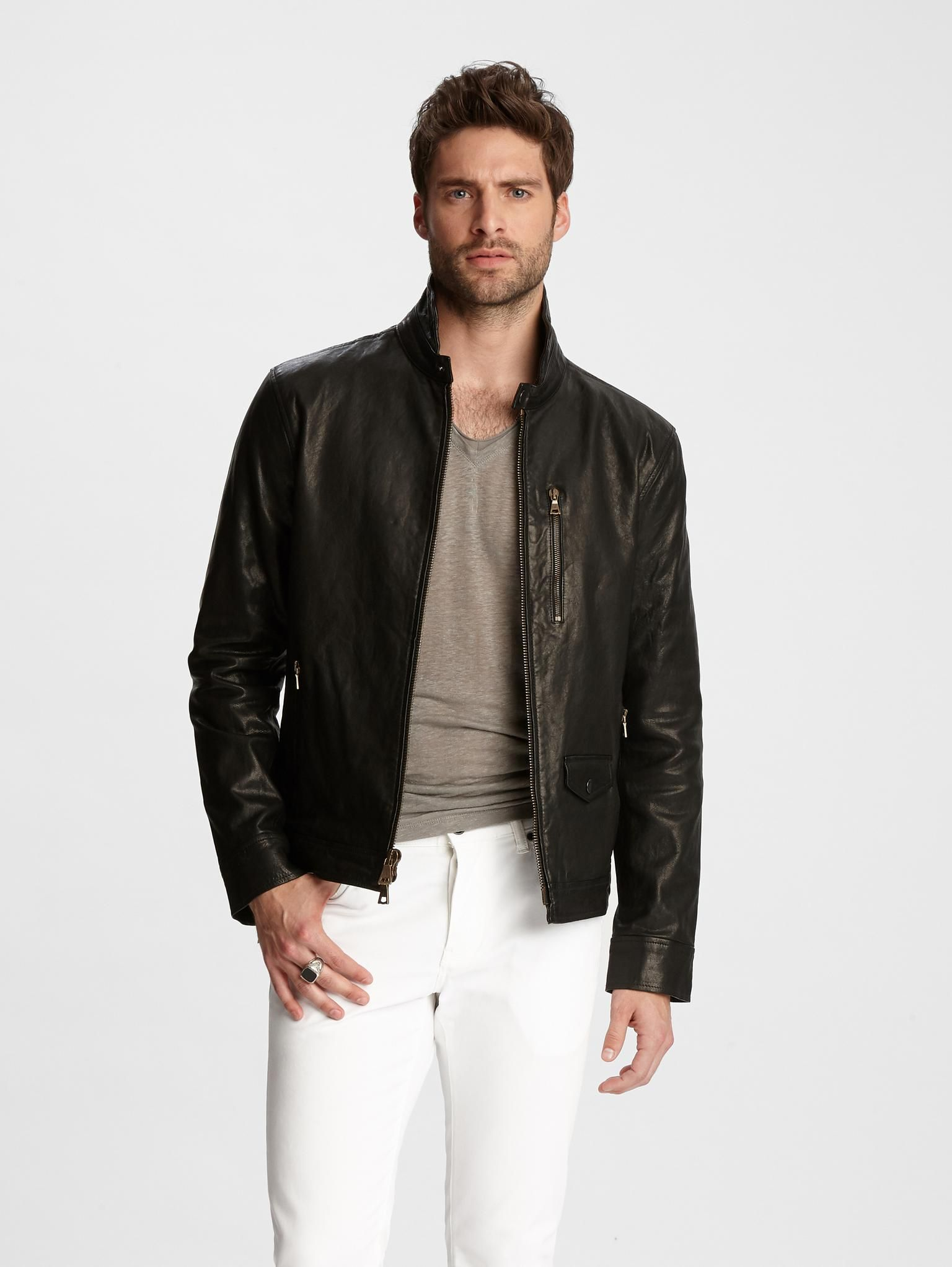 Wire Collar Leather Jacket Leather Jacket Collar Leather Jacket Leather Jeans Men [ 2044 x 1536 Pixel ]
