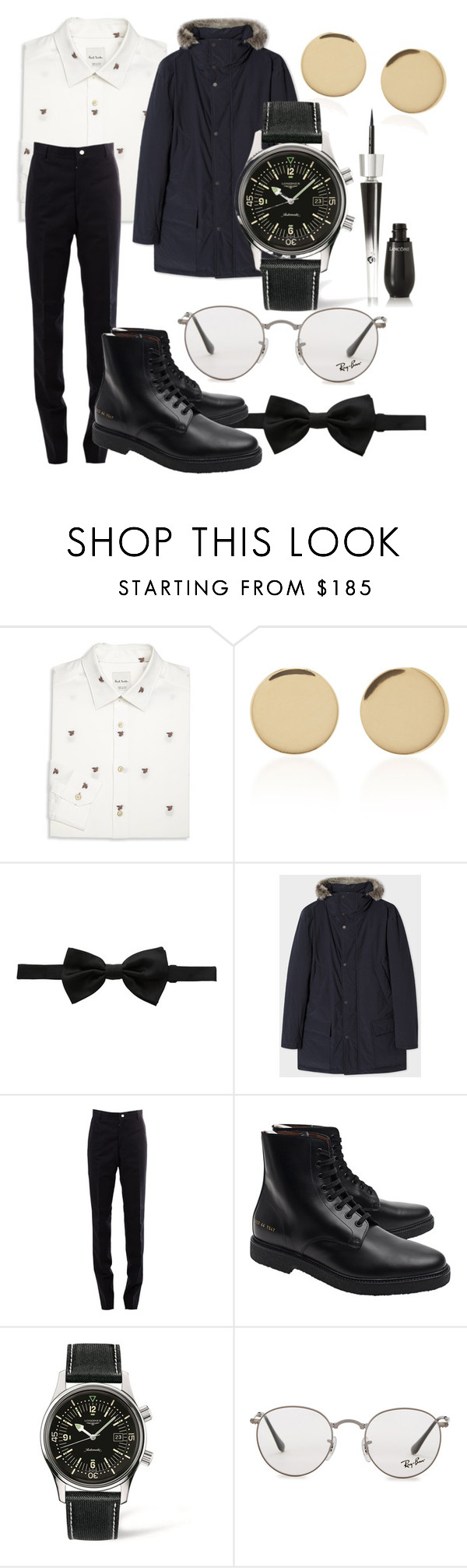 """""""Esme"""" by the-mad-hattess on Polyvore featuring Paul Smith, Magdalena Frackowiak, Dolce&Gabbana, Thom Browne, Common Projects, Longines, Ray-Ban and Lancôme"""