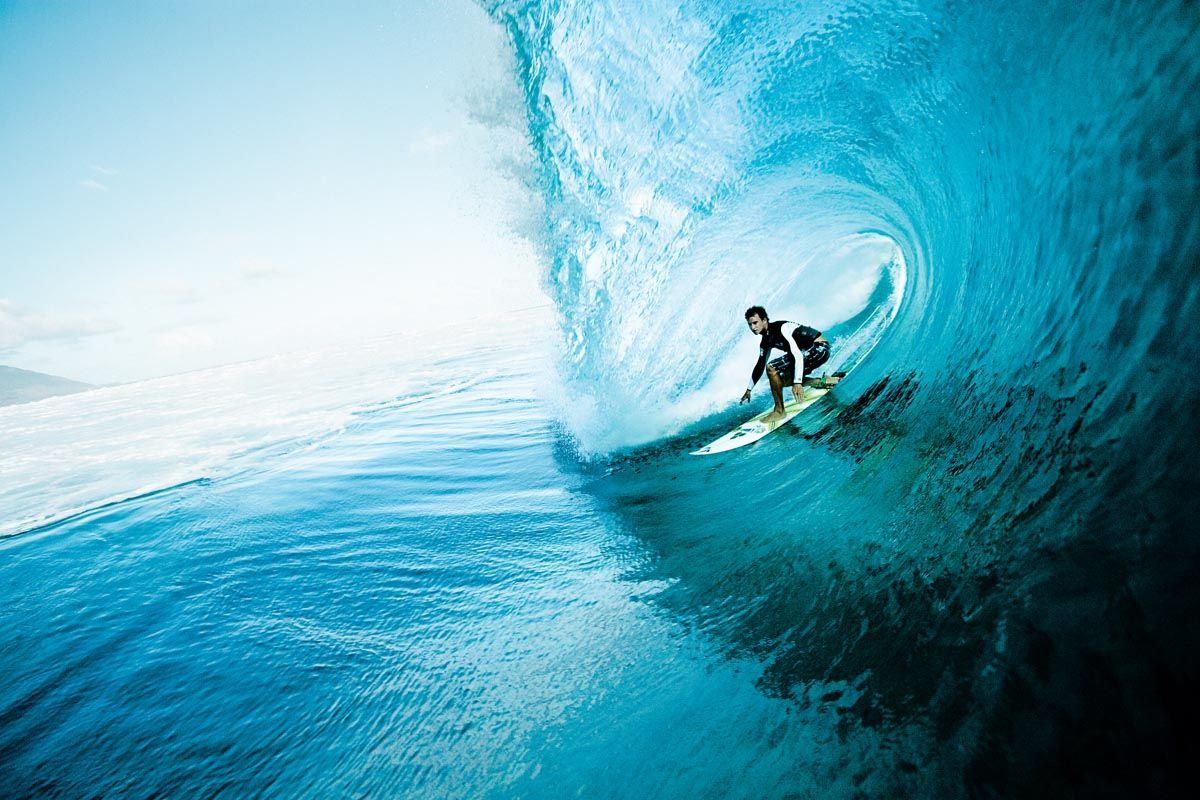 the surf at Teahupo'o.
