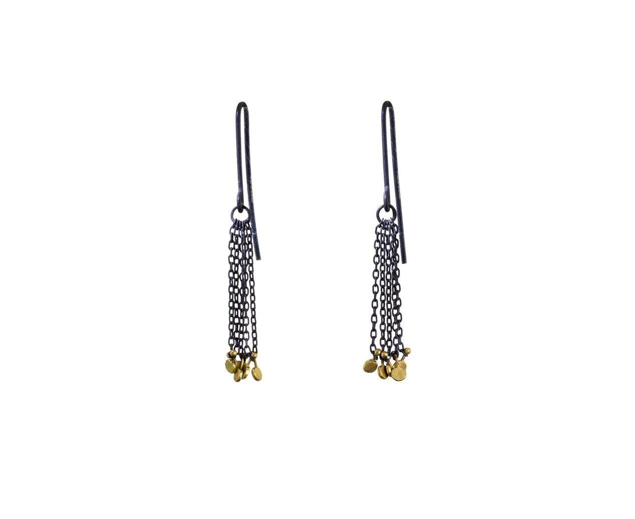 Two-Tone Tassle Earrings