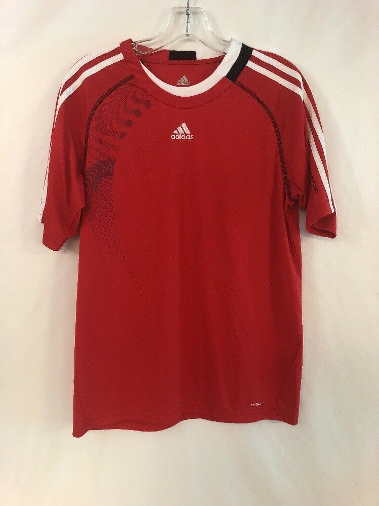 1d442131d Adidas Boy s T-shirt Youth Size XL Soccer Shirt Jersey Red White Youth YXL  010