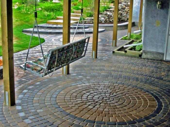 Moderne Gartengestaltung Mit Stein Garten Gestalten Mit Kreis Vorgarten  Gestalten Mit Steinen Reihenhaus