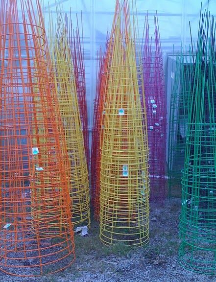 I Have These Painted Tomato Cages Love The Colorful 400 x 300