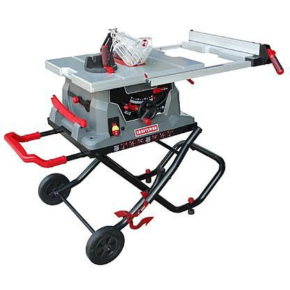 Craftsman 10 Jobsite Table Saw Portable Table Saw Jobsite Table Saw Cool Tools