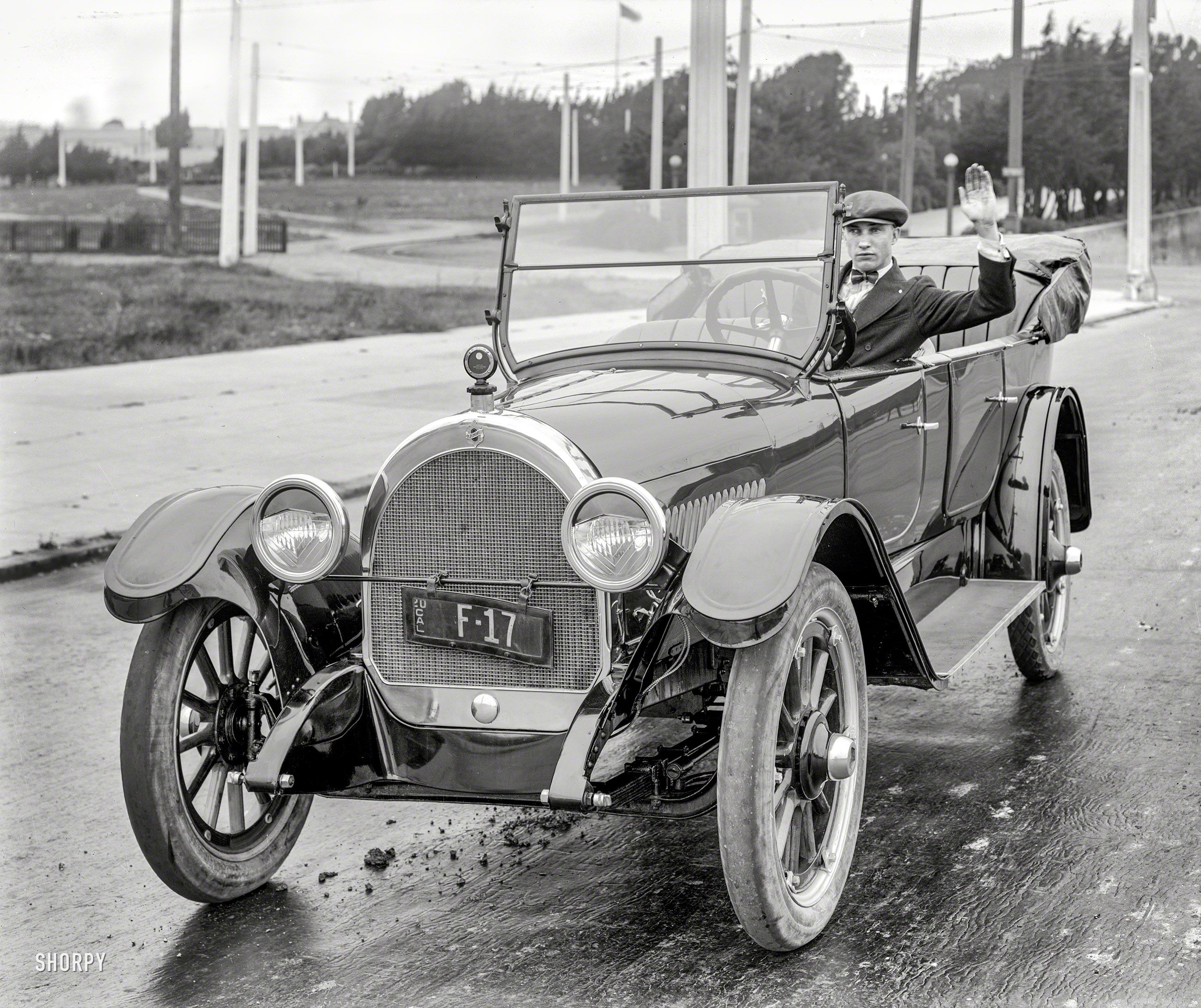 San Francisco In 1920 Oldsmobile Touring Car Its Dapper Driver