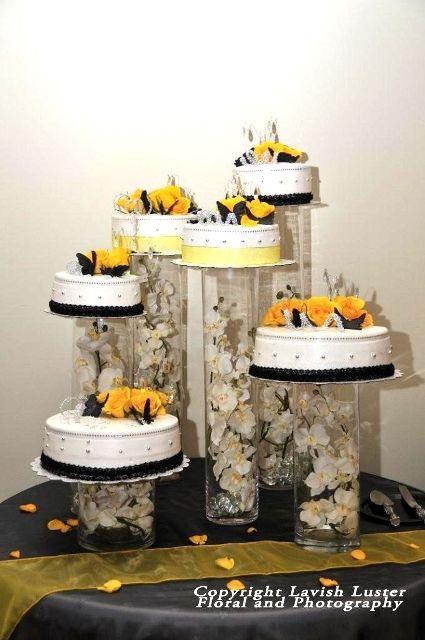 Cakes & Desserts Butter Cream Wedding Cake with Fresh Yellow Flowers – Demers Banquet Hall