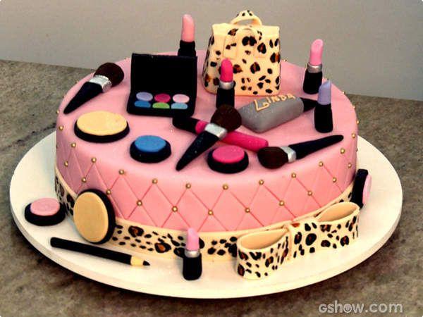 Bolo Maquiagem Recipe In 2020 Make Up Cake Cake Designs