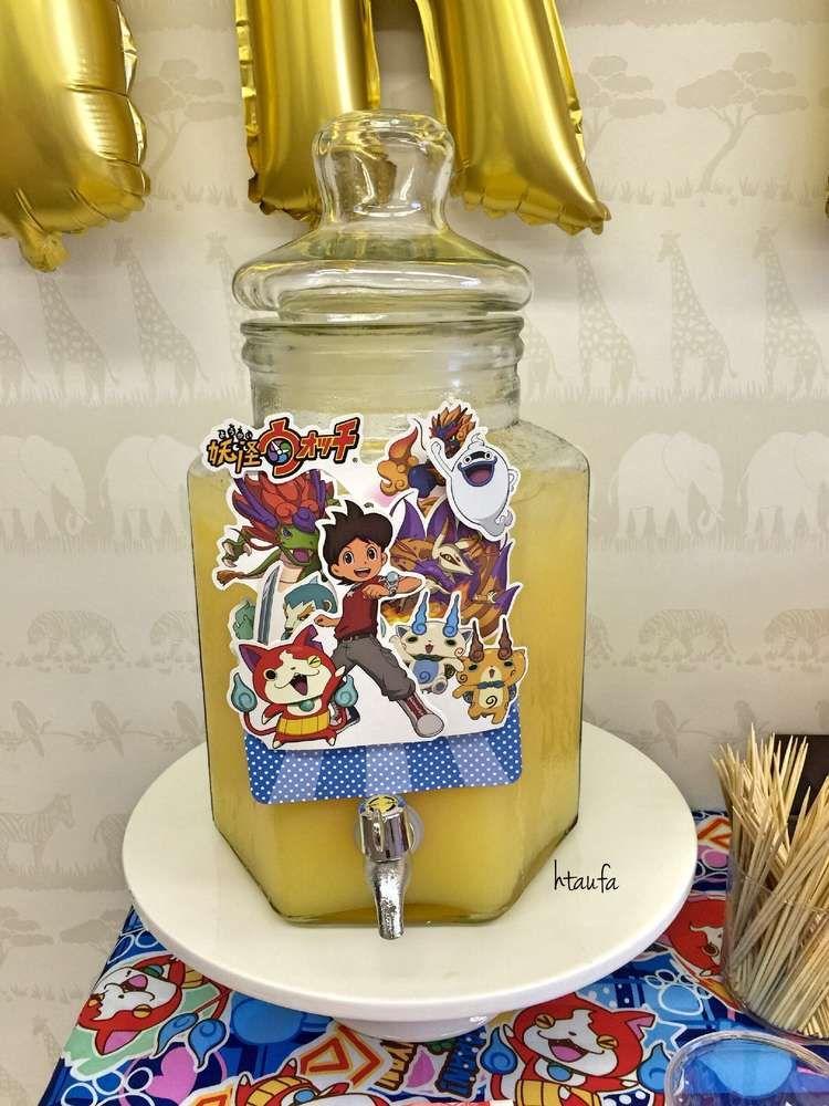 yokai watch theme birthday party ideas yokai watch pinterest anniversaire et gouter. Black Bedroom Furniture Sets. Home Design Ideas