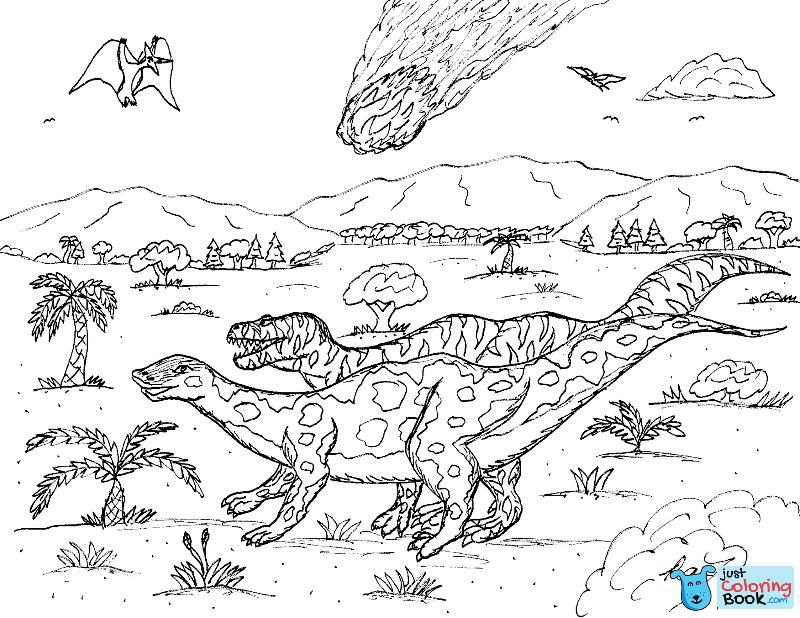 Robin039s Great Coloring Pages Edmontosaurus Pteranodon With