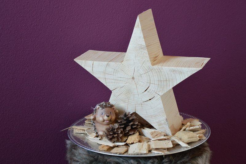 Holzstern holz deko weihnachtsstern von handmade in - Dekoration winterzauber ...