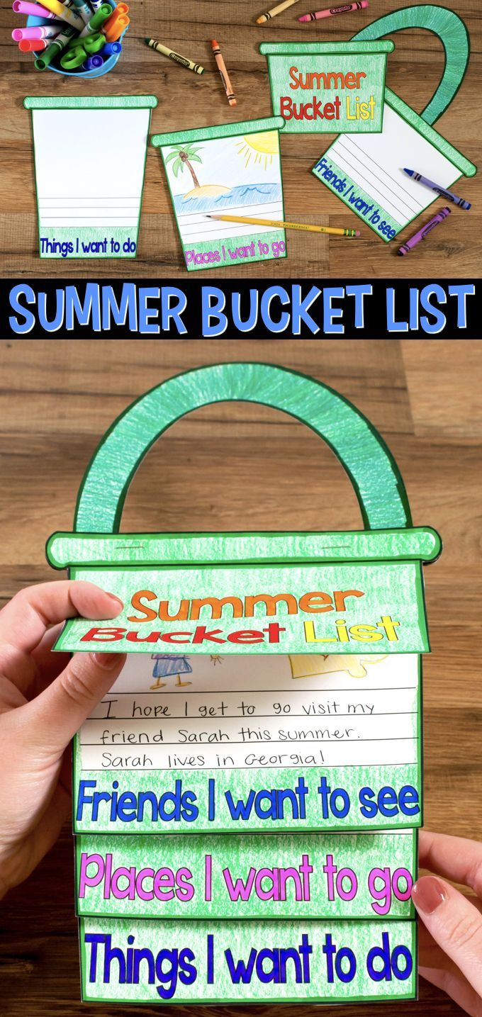 Bucket List Craftivity A fun craftivity flap book where students write about all the friends they are going to see this summer, the places they want to visit, and the things they want to do.A fun craftivity flap book where students write about all the friends they are going to see this summer, the places they want to visit, and the things they want to do.