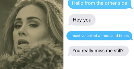 makeuphall:  Woman Texts Her Ex Using Only Adele Lyrics And The Result Is Hilarious