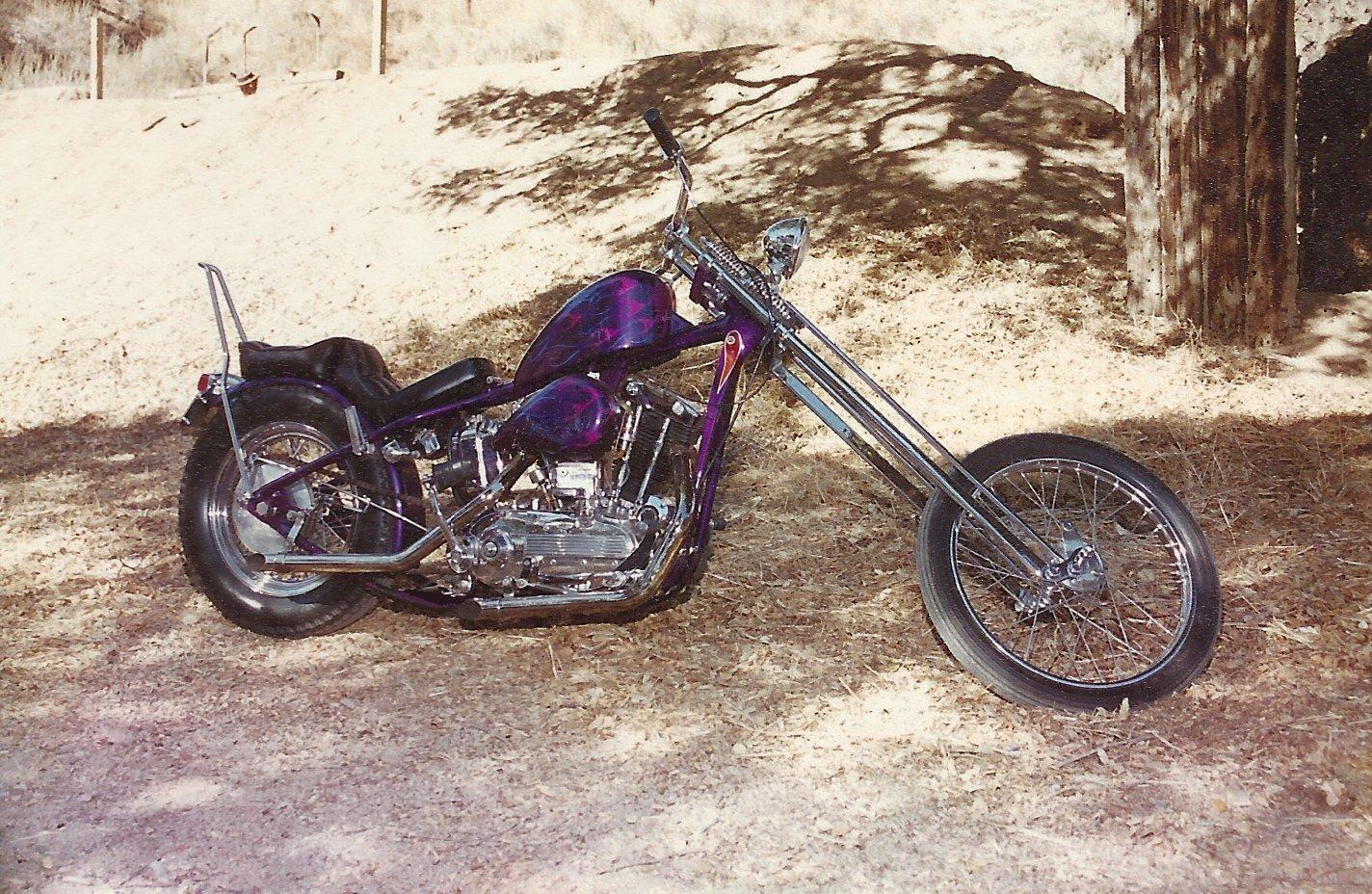 My 1969 Ironhead Hardtail Chopper Zz Top Dad Sportster