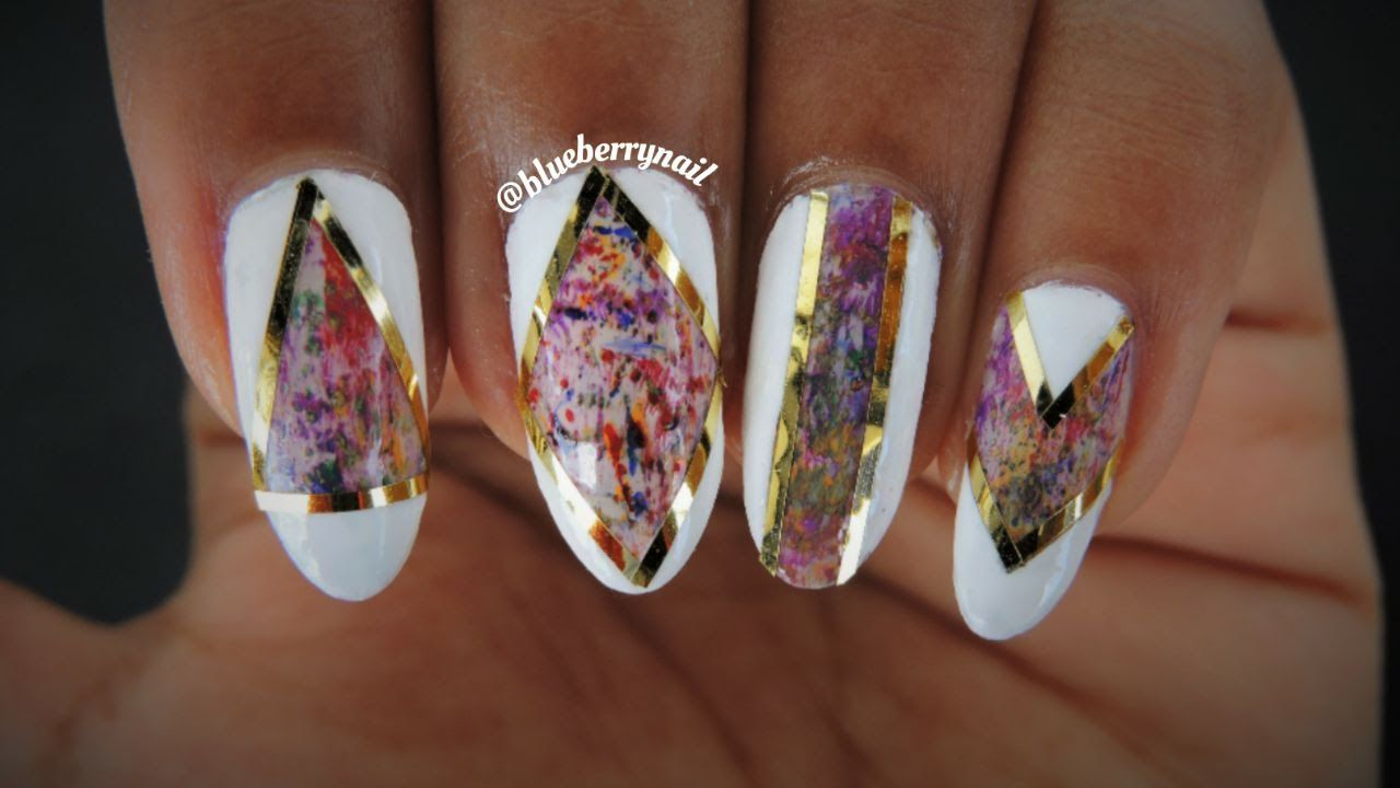 Dry Brush Nails With Striping Tape | Nails, Striped nails ...