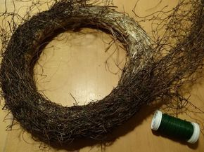 Photo of For the time until spring is finally deposited, I made from natural materials …