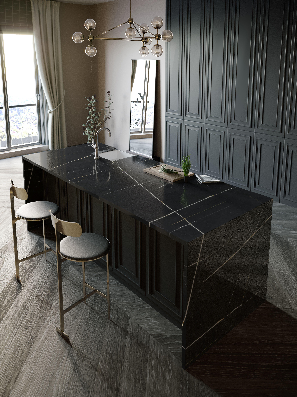 Silestone Et Noir Cosentino Loft Kitchen Kitchen Marble Silestone Kitchen