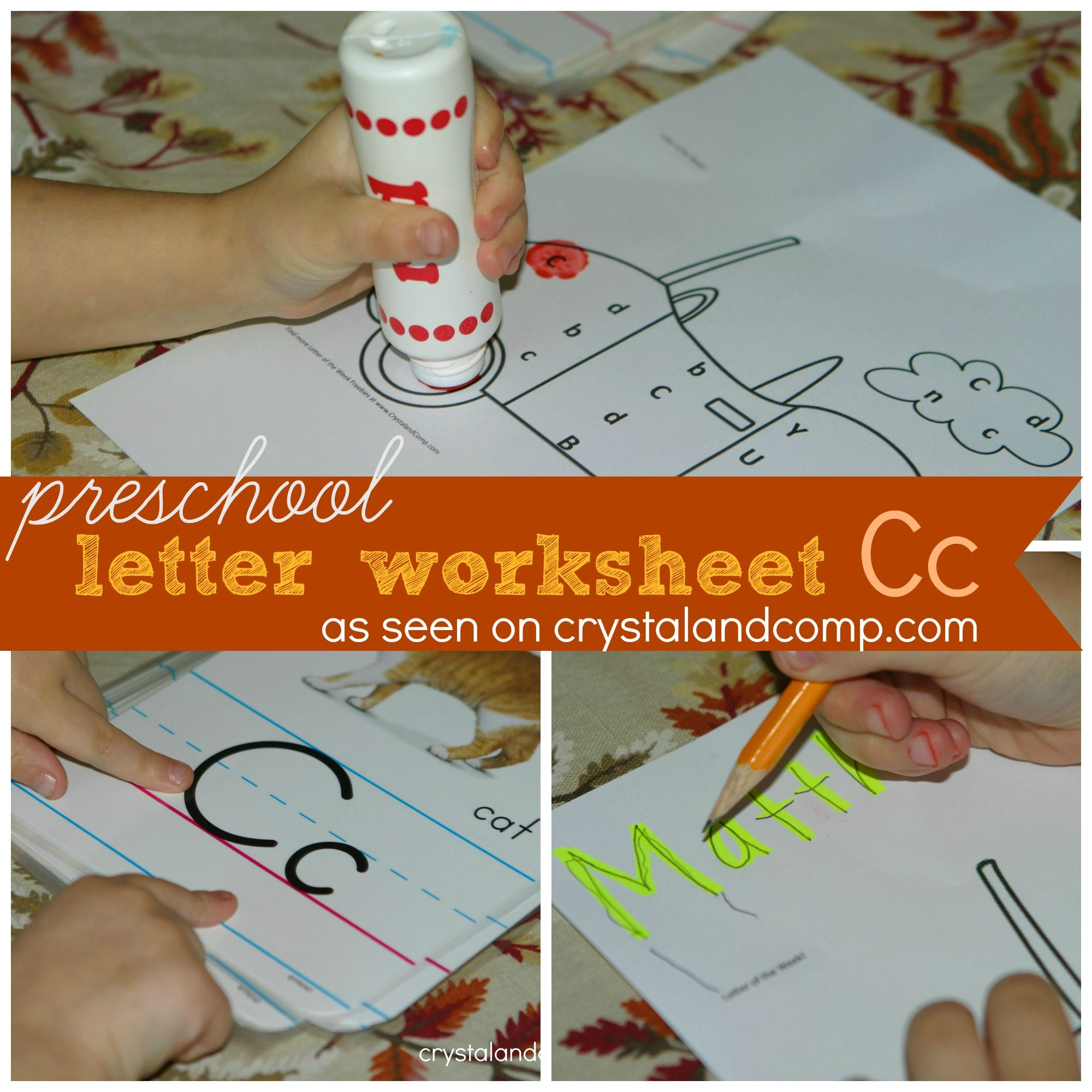 Preschool Letter Worksheets Do A Dot Printable Letter C