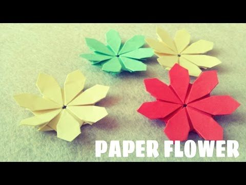 Youtube paper flowers pinterest origami paper flower tutorial youtube origami flowerspaper mightylinksfo