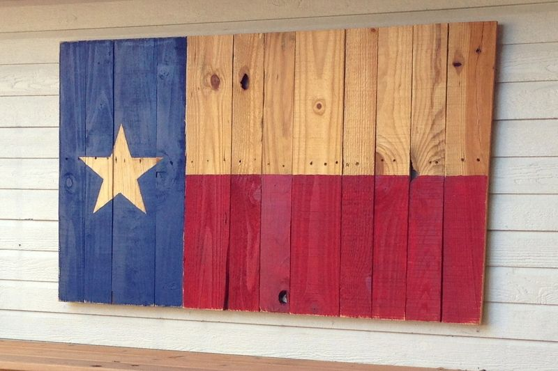 40 Wooden Texas Flag You Specify The Dimensions Up To 4x6 Wooden Flag Wood Pallets Crafts