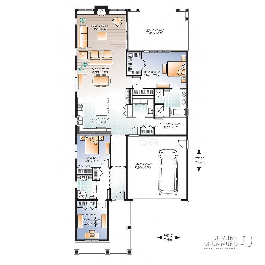 Plan De Maison Unifamiliale Rustika 3 No 3240 Es En 2019