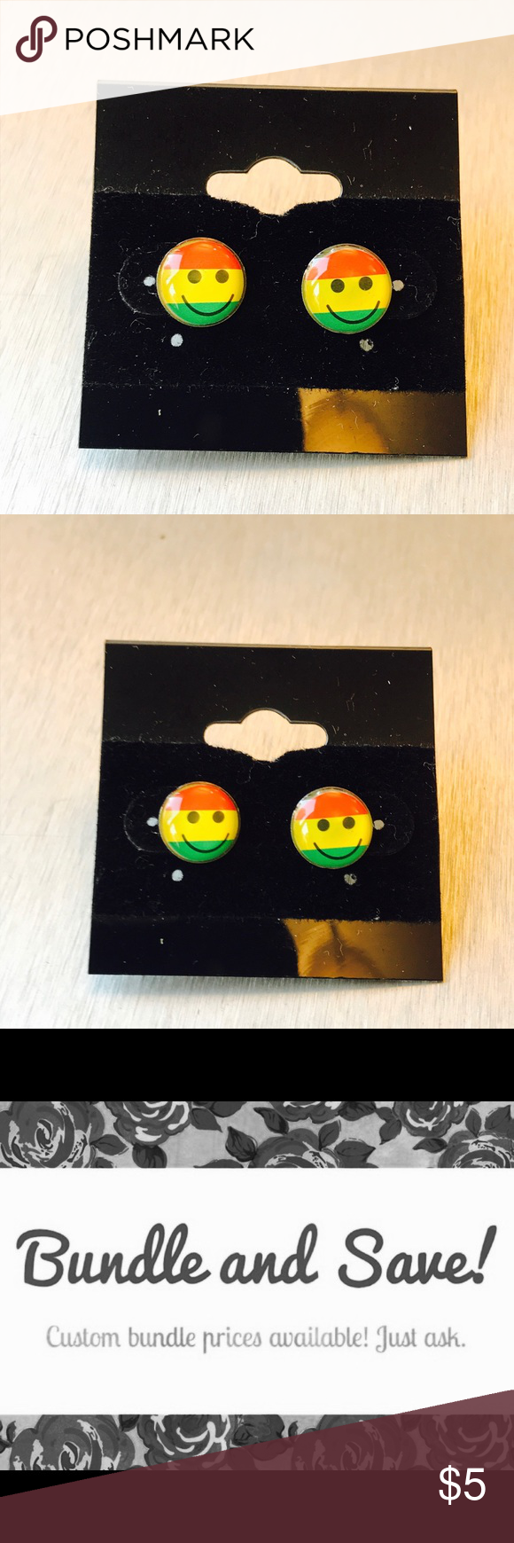stud us earrings pack fun emoji claire s