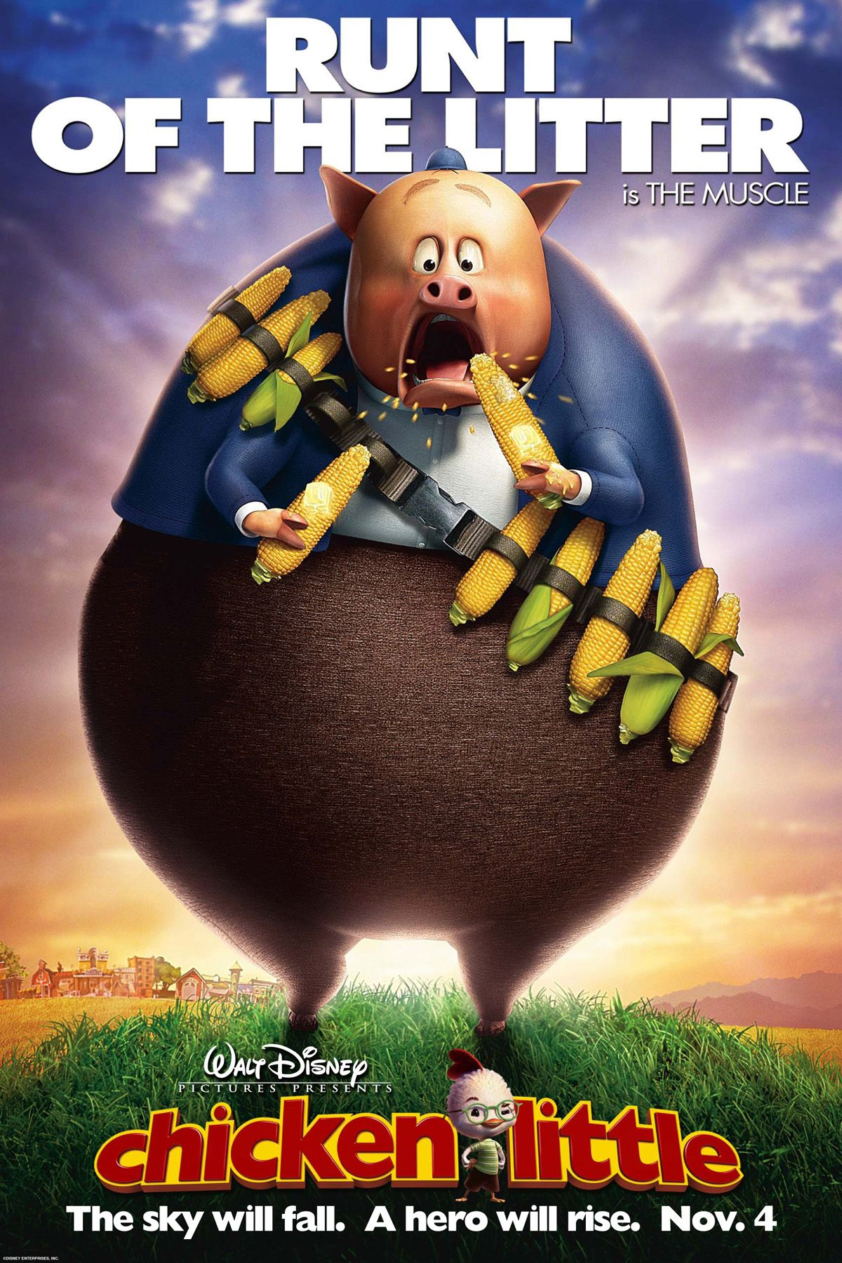 Steve Zahn Runt Of The Litter Chicken Little Chicken Little 2005 C Rtelesmix Es Peliculas De Disney Disney Peliculas
