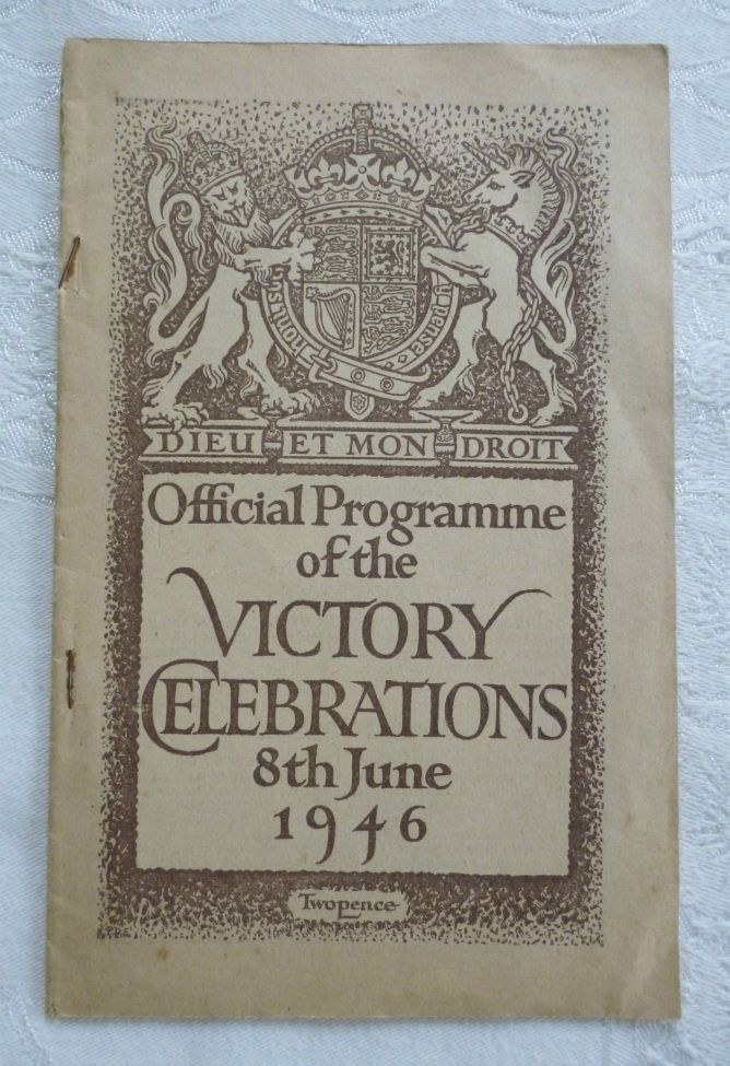 official programme of the victory celebrations 8th june 1946