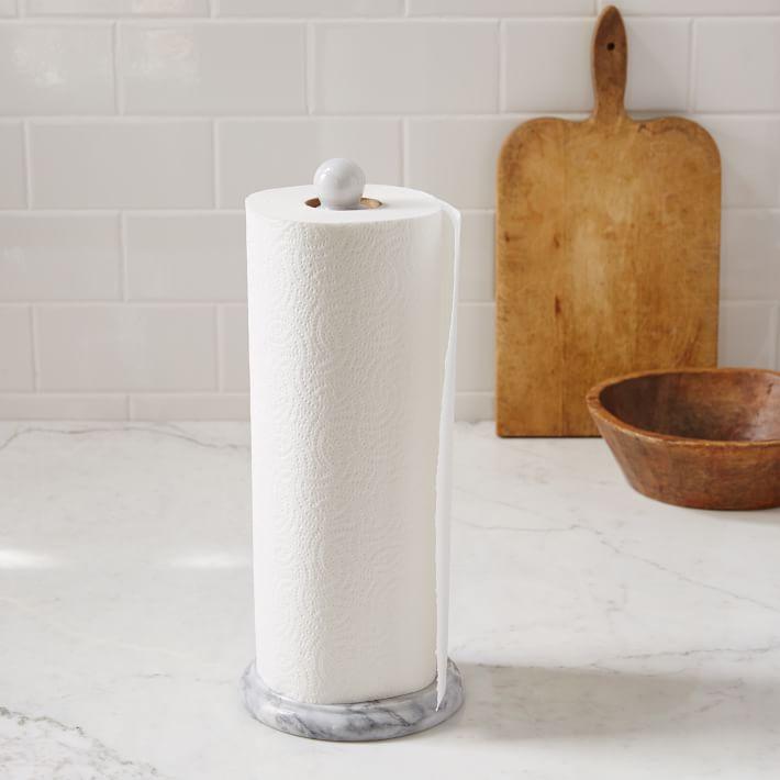 Marble Paper Towel Holder White West Elm Paper Towel