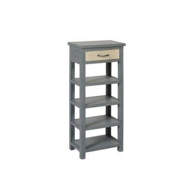 Meuble d 39 appoint tiroir grav toiles bois anthracite jardin d 39 ulysse vente meubles meubles - Meuble tv jardin d ulysse ...