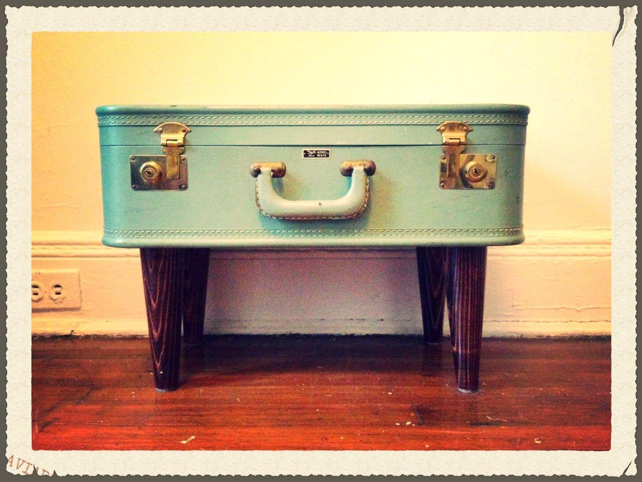 Diy suitcase table - Suitcase Dresser