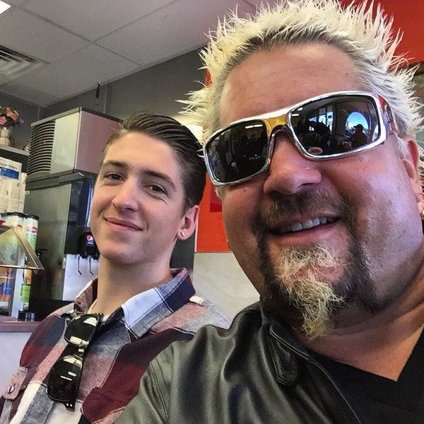 Guy Fieri And Son Hunter European Food Tour With Images Guy