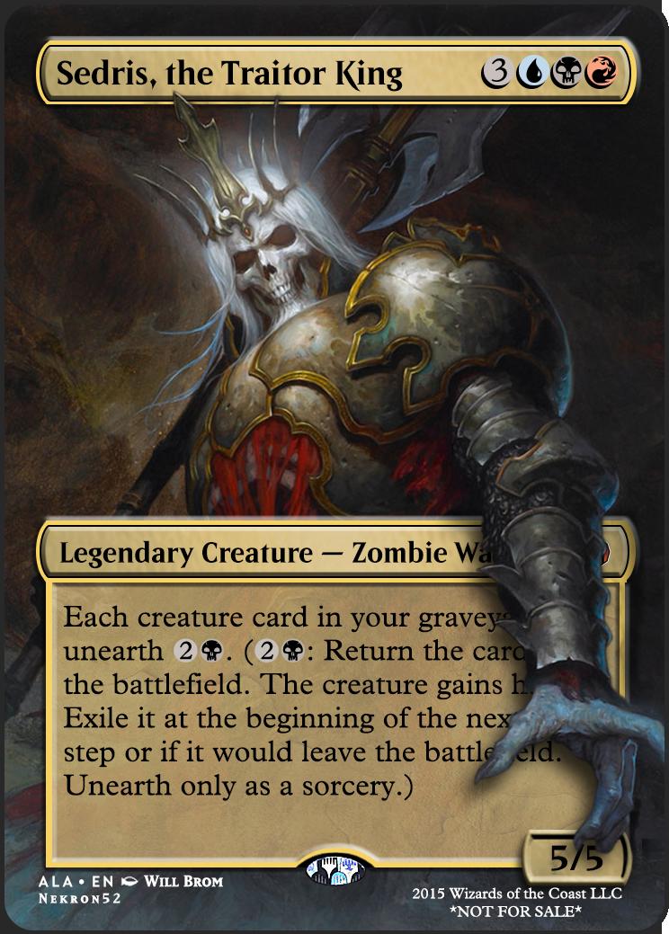 Sedris The Traitor King Mtg Altered Art Magic The Gathering Cards Magic The Gathering