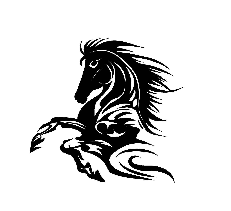 Tribal Horse Decal Custom Vinyl Car Truck Window Sticker Custom Vinyl Decal Custom Vinyl Horse Tattoo [ 1402 x 1541 Pixel ]